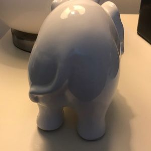 Accents - Porcelain white elephant
